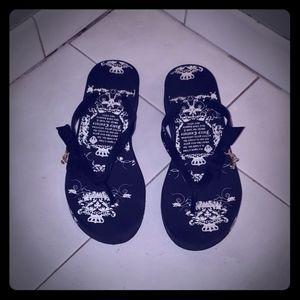 Juicy Couture flip flops